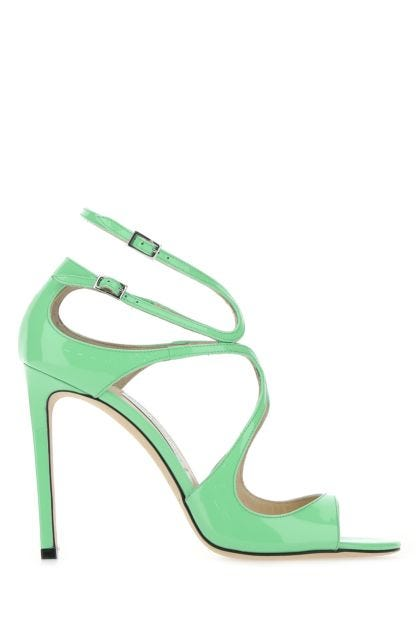 Sea green leather Lang sandals
