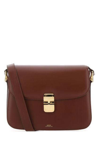 Bordeaux leather Grace crossbody bag