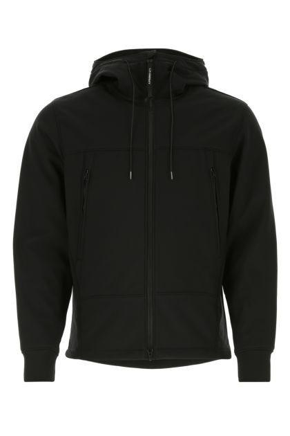 Black stretch polyester Google jacket