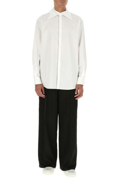 Black polyester blend pant
