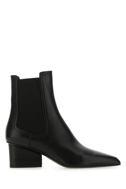 Black leather Velta ankle boots