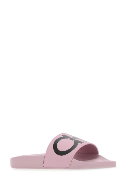 Pink rubber Groovy slippers