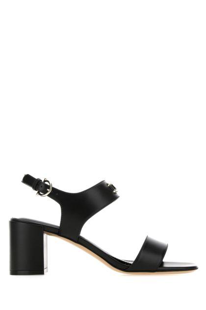 Black leather Cayla sandals