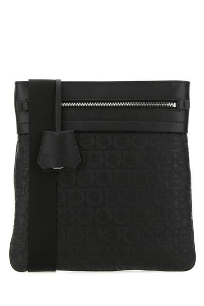 Black leather Gancini crossbody bag