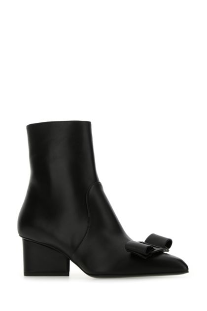Black nappa leather Vince ankle boots
