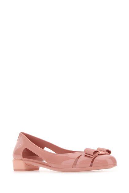 Pink PVC Jelly ballerinas