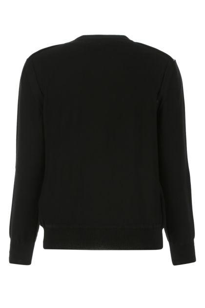 Two-tone silk blend cardigan