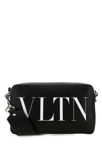 Black leather VLTN crossbody bag