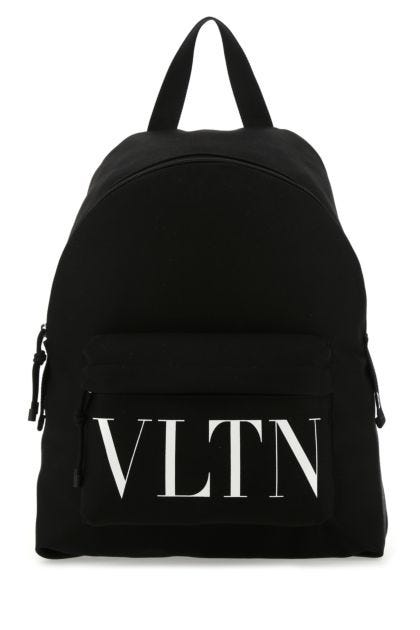 Black nylon VLTN backpack