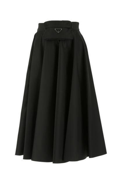Black Re-nylon skirt