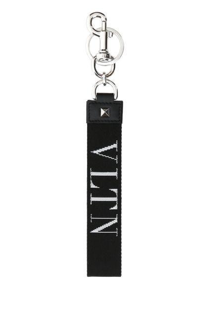 Black fabric key ring