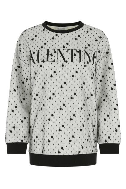 Two-tone cotton blend sweatshirt