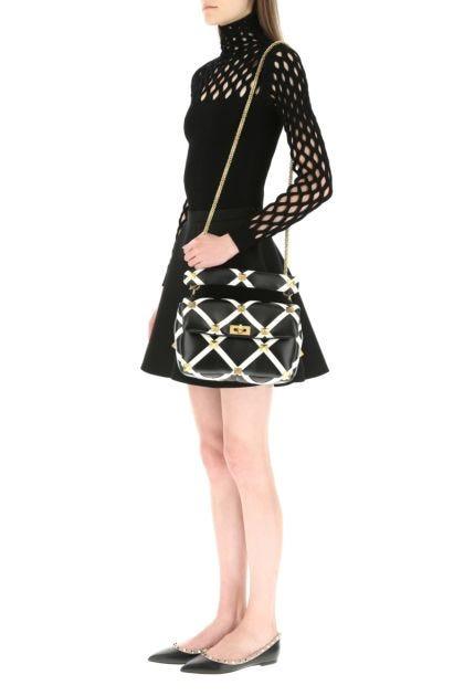 Embellished nappa leather large Roman Stud handbag