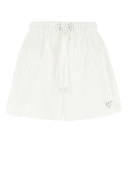 White Re-nylon shorts