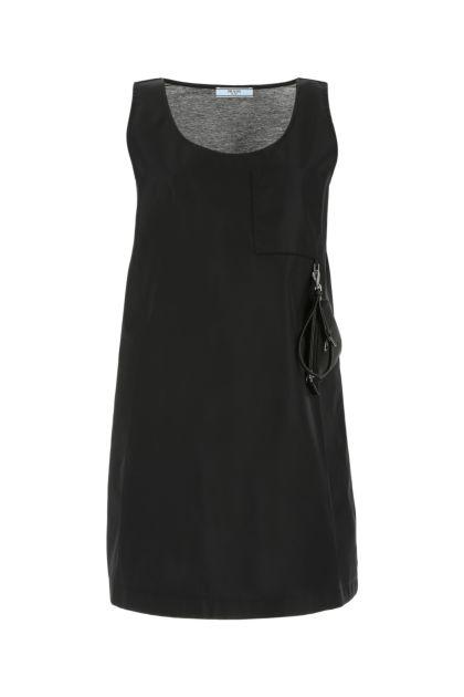 Black Re-nylon and cotton dress