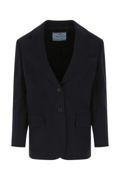 Midnight blue wool blend blazer