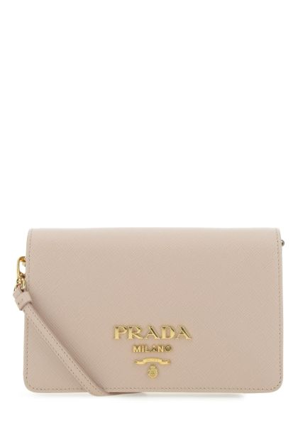 Antiqued pink leather clutch