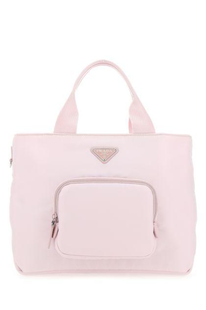 Pastel pink Re-nylon handbag