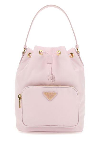Pastel pink Re-Nylon Duet bucket bag