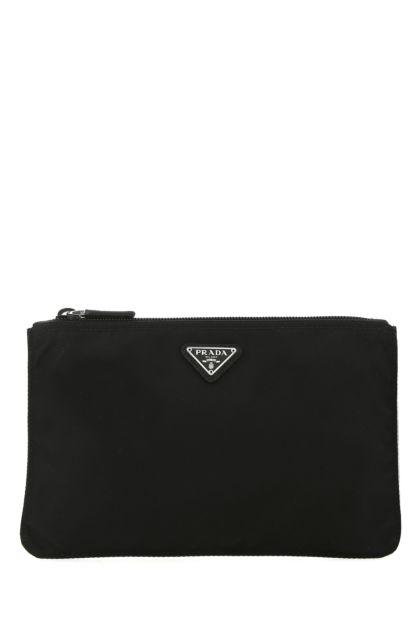 Black nylon pouch