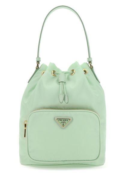 Mint green Re-nylon Duet bucket bag