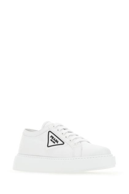 White nylon sneakers