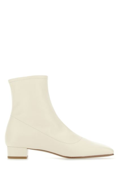 Ivory leather Este ankle boots