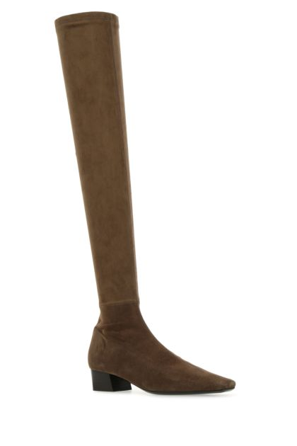 Brown suede Colette boots