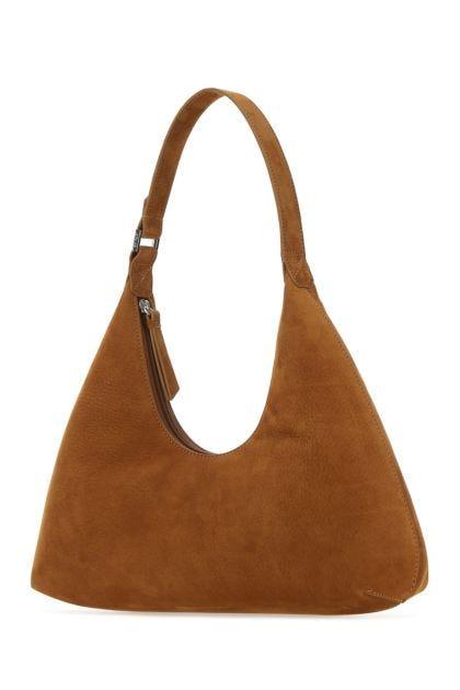 Camel nubuck Amber shoulder bag