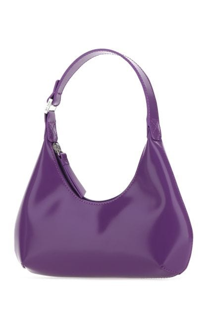 Purple leather baby Amber handbag