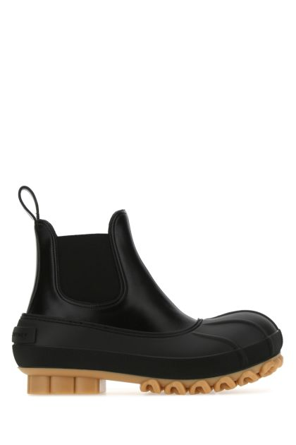 Black alter nappa and rubber Duck City ankle boots