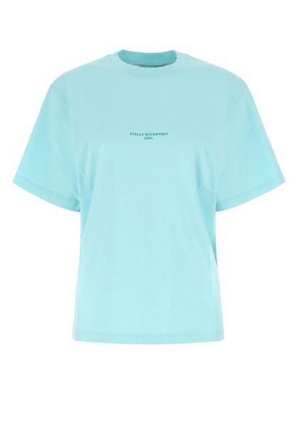 Light-blue cotton oversize t-shirt