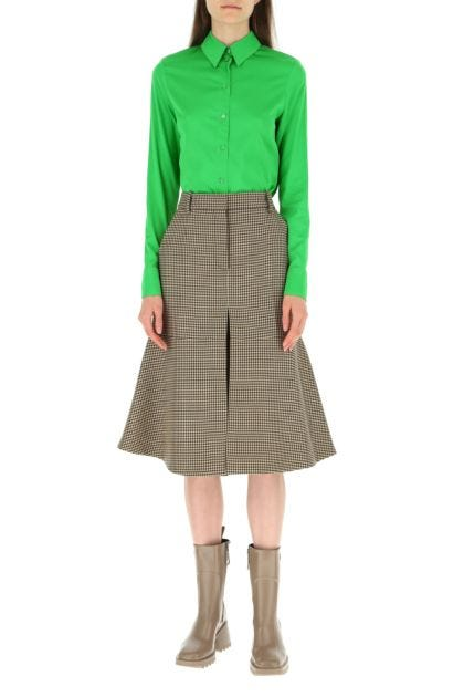 Green stretch viscose shirt