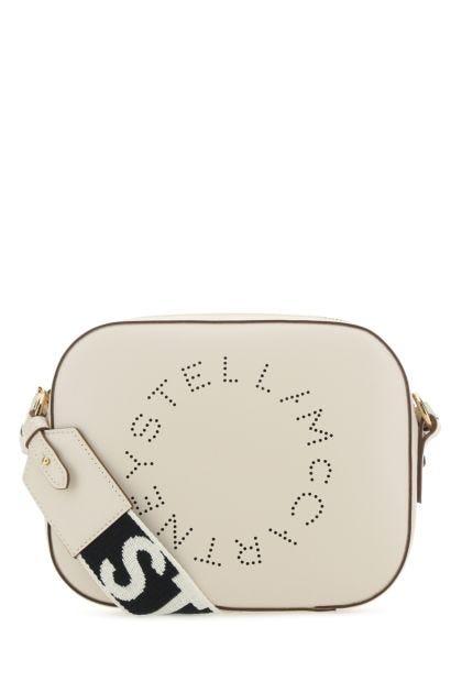 Sand alter nappa mini Stella Logo crossbody bag