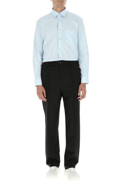 Light-blue stretch poplin shirt