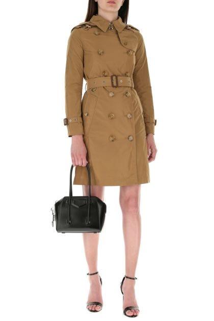 Camel polyester Kensington trench coat