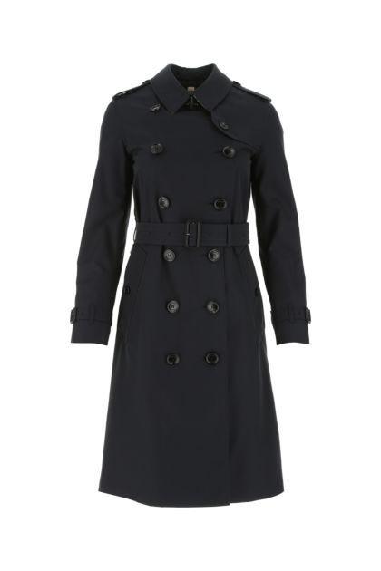 Midnight blue cotton Kensington trench coat