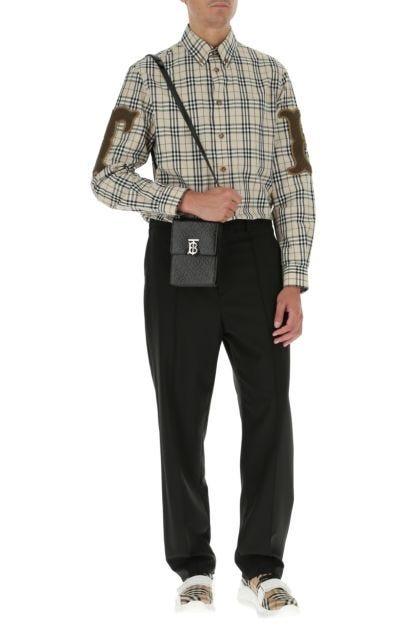 Black leather Robin shoulder bag