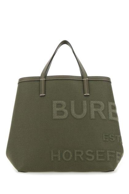Army green canvas handbag