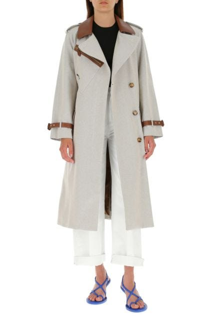 Sand cotton coat