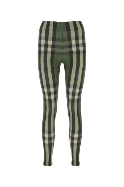 Printed stretch nylon leggings
