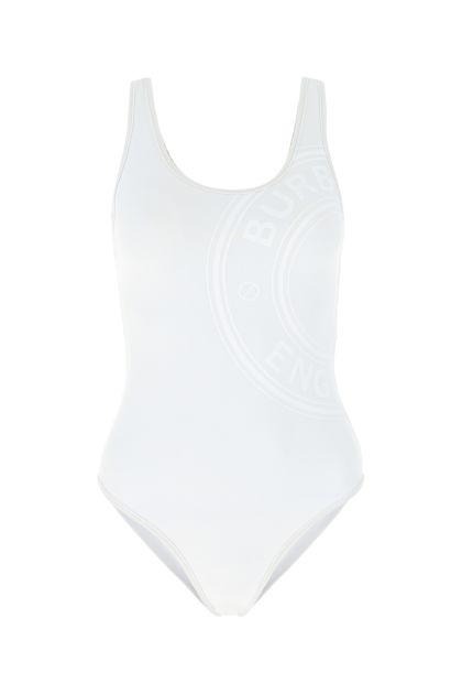White stretch nylon swimsuit