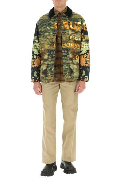 Printed cotton padded jacket