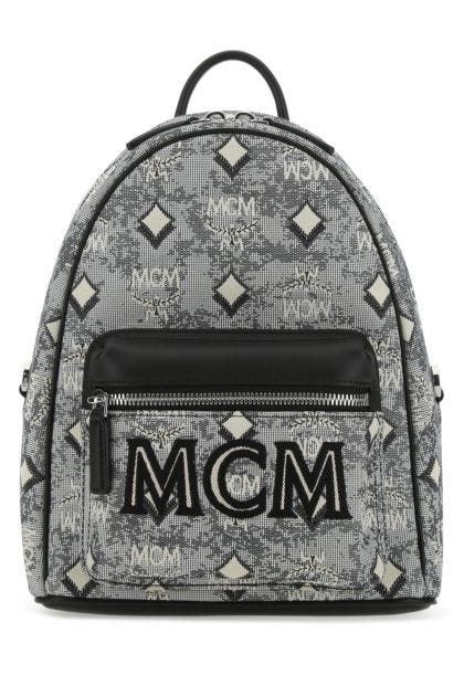 Embroidered canvas backpack