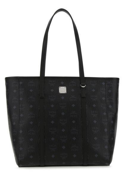 Printed canvas medium Toni shopping bag