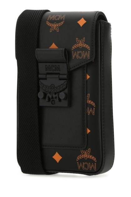 Printed nappa leather mini crossbody bag