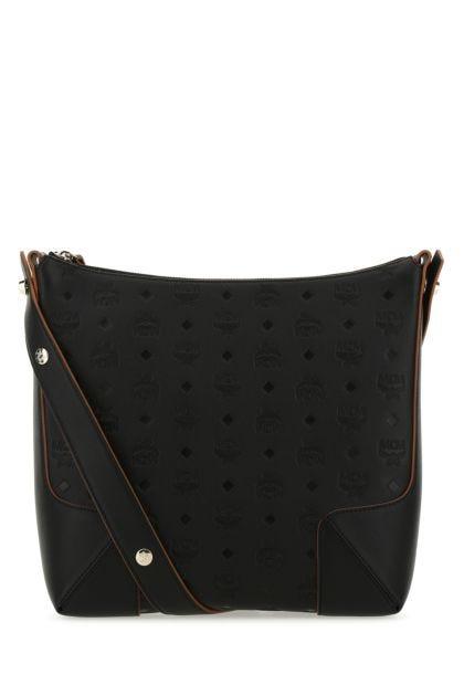 Black leather medium Klara shoulder bag