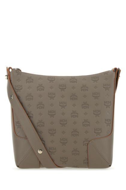 Grey leather Klara medium shoulder bag