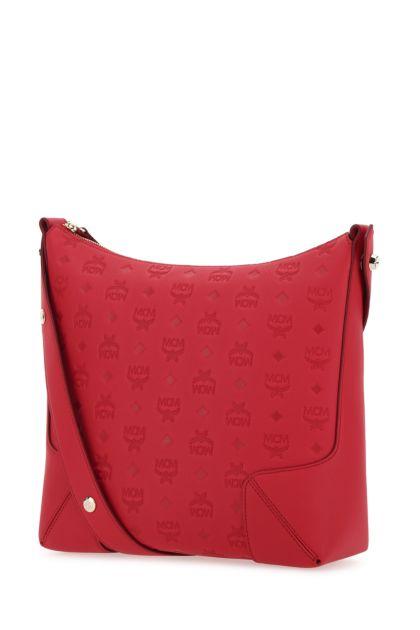Red leather medium Klara shoulder bag