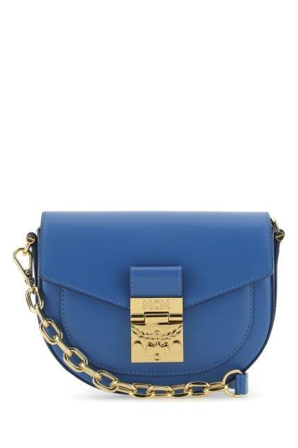 Blue leather mini Patricia crossbody bag